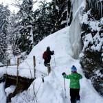 Als andere als ungefährlich ist der Weg durch den Eistobel im Winter. Foto (c) Kinderoutdoor.de
