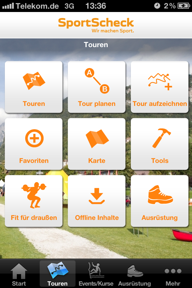 Viele nützliche Funktionen bietet die kostenlose App von Sport-Scheck: Tourenplanung, GPS Aufzeichnung, Packlisten, Notruf und vieles mehr.  Foto: (c) SportScheck