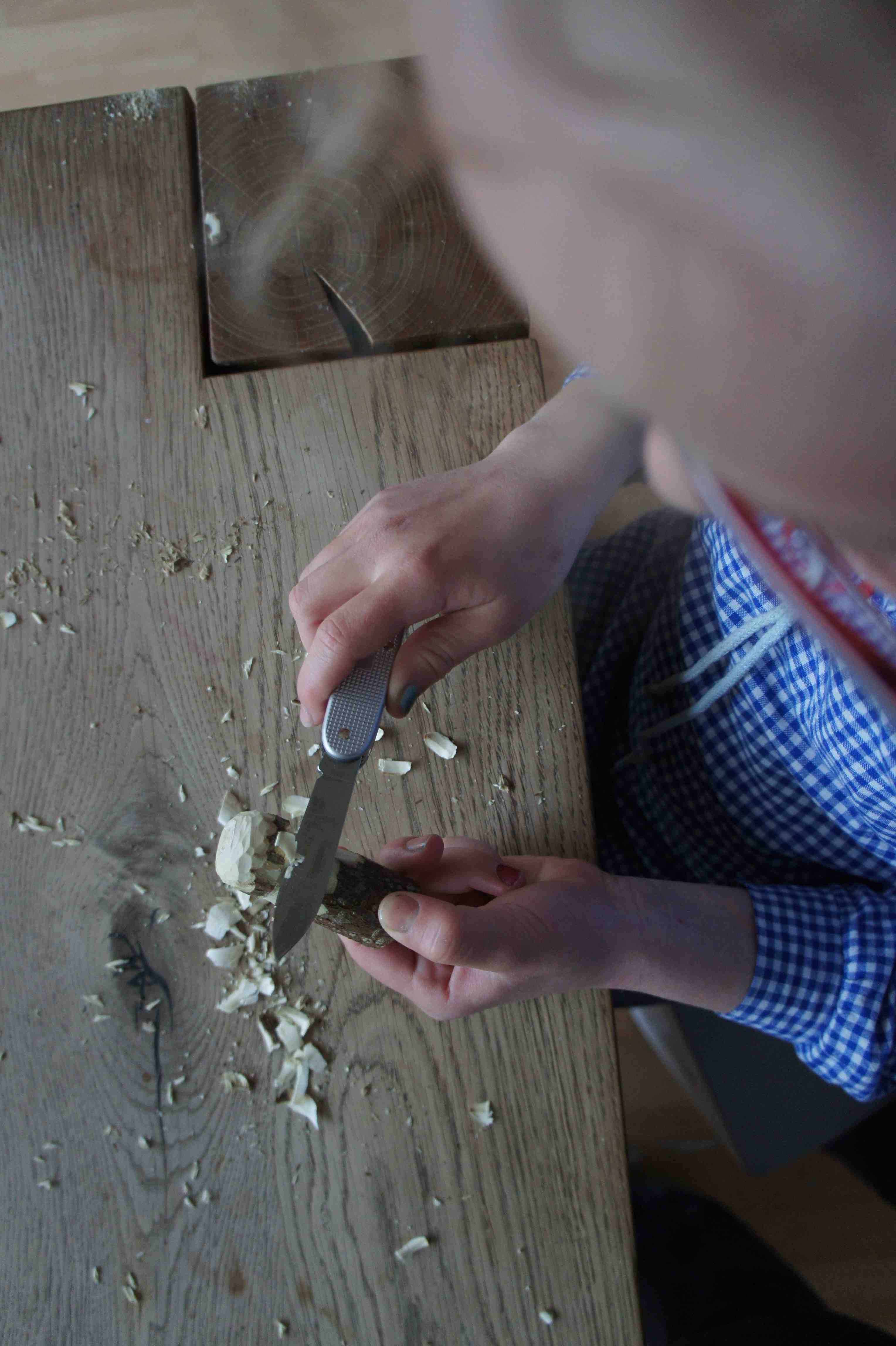 Nun schnitzt Ihr den Stil und fertig! Foto: (c) Kinderoutdoor.de