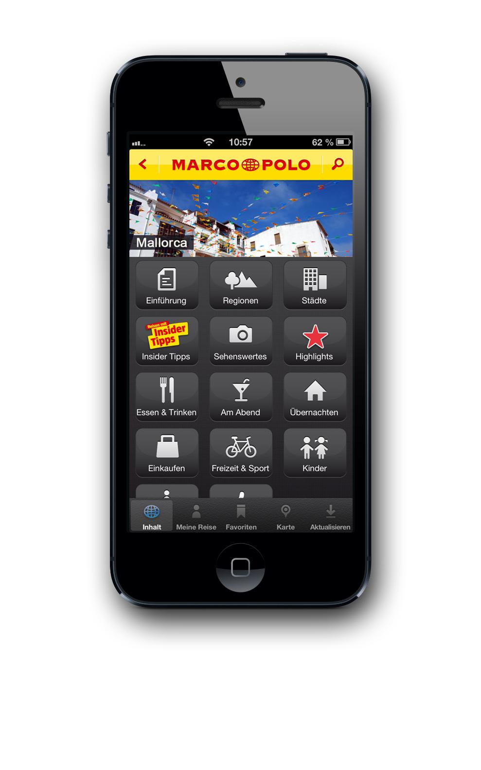 Als Marco Polo 1260 in Venedig zu seiner legendären Reise aufbrach, die ihn bis nach China führte, hatte er natürlich noch keine Reise App zur Verfügung. Sonst wäre er wahrscheinlich in der Lagungenstadt geblieben. Moderne Entdecker laden sich die MARCO POLO Travel Guides App auf das Smartphone. Foto: Mair Dumont