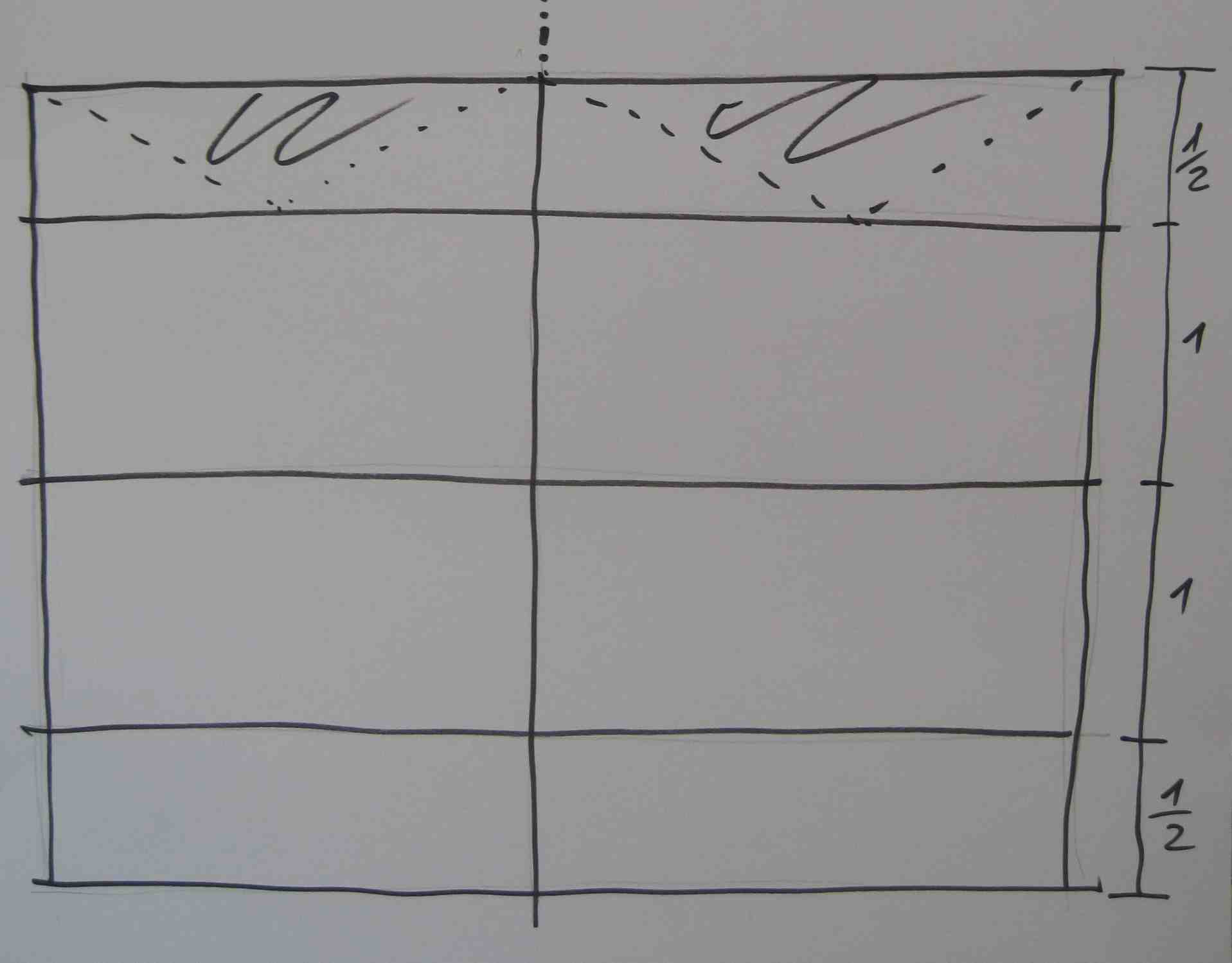 So klebt Ihr die sechs Bögen Seidenpapier zusammen und faltet es oben und unten mittig. Anschließend festkleben. Foto. (c) Kinderoutdoor.de