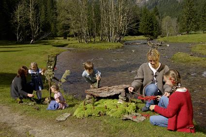Kanada Feeling am Katschberg! Hier können Eltern und Kinder sind im UNESCO Biosphären Reservat erholen. Foto: (c) Tourismusregion Katschberg