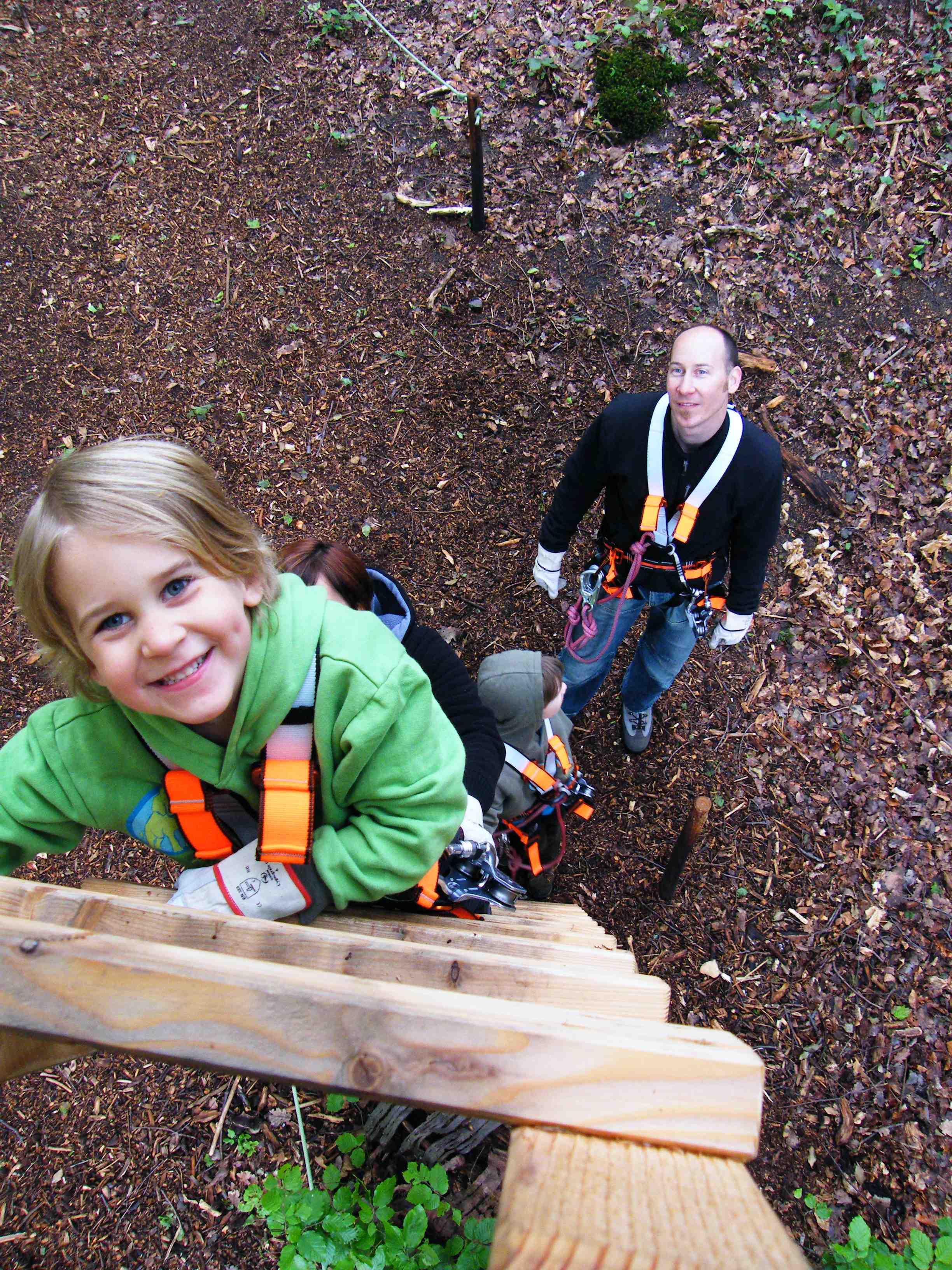 Im Klettergarten Bronx Rock gibt es für Kindergeburtstage spezielle Programme wie der Schatz der Waldgeister. Foto: Foto: BRONX ROCK Kletterhalle