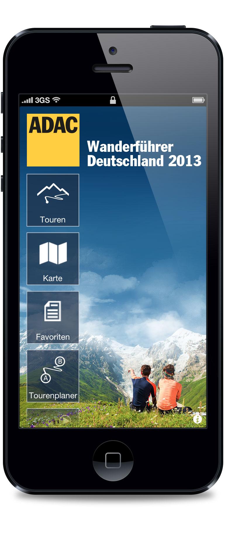 Eine Wander App mit 6.000 verschiedenen Touren bietet der ADAC fürs iPhone und Android an. Foto: (C) ADAC