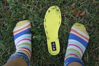 Die Adifit Einlegesohlen zeigen, ob dem Kind der adidas Terrex Schuh auch wirklich passt. Foto: (c) Kinderoutdoor.de