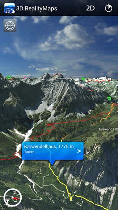 Wo gehts lang? Mit der neuen App von 3 D Reality Map ist orientieren in den Bergen ein Kinderspiel Foto: 3D Reality Map
