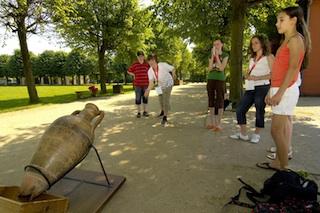 Spielen wie die Römer: Im LVR-Archäologischen Park Xanten ist Deutschlands größtes und bestbesuchtes archäologisches Freilichtmuseum. Foto: (c) Foto: Axel Thünker DGP