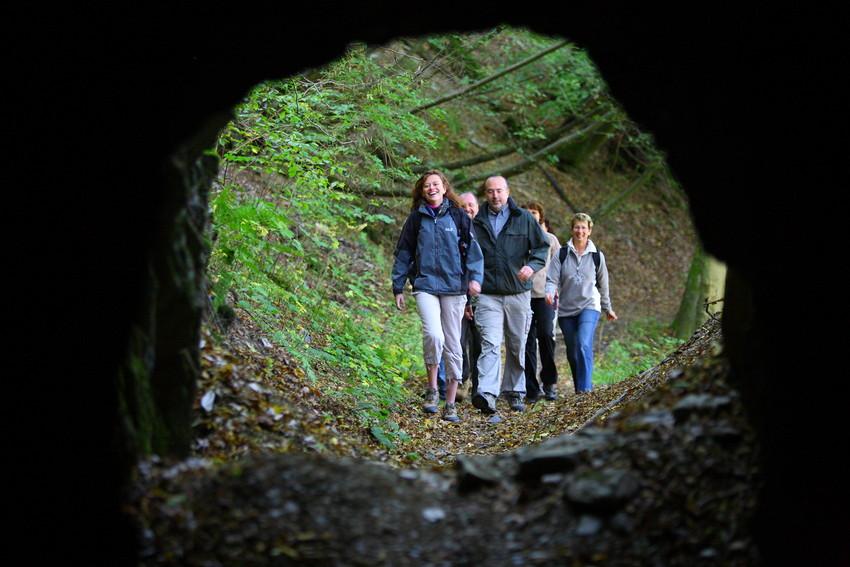Auf jeder Etappe gibt es viel Neues zu entdecken! Wer mit Kindern auf dem Soonwaldsteig wandert, kommt an etlichen Sehenswürdigkeiten vorbei. Copyright: Trägerverein Naturpark Soonwald-Nahe e.V.