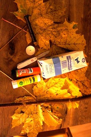 Laternen basteln mit wenig Material! Diese wenigen Dinge reichen aus, um in kurzer Zeit eine Laterne zu bauen, die ein echter Hingucker ist und außerdem nicht brennt! Foto.(c) Kinderoutdoor.de