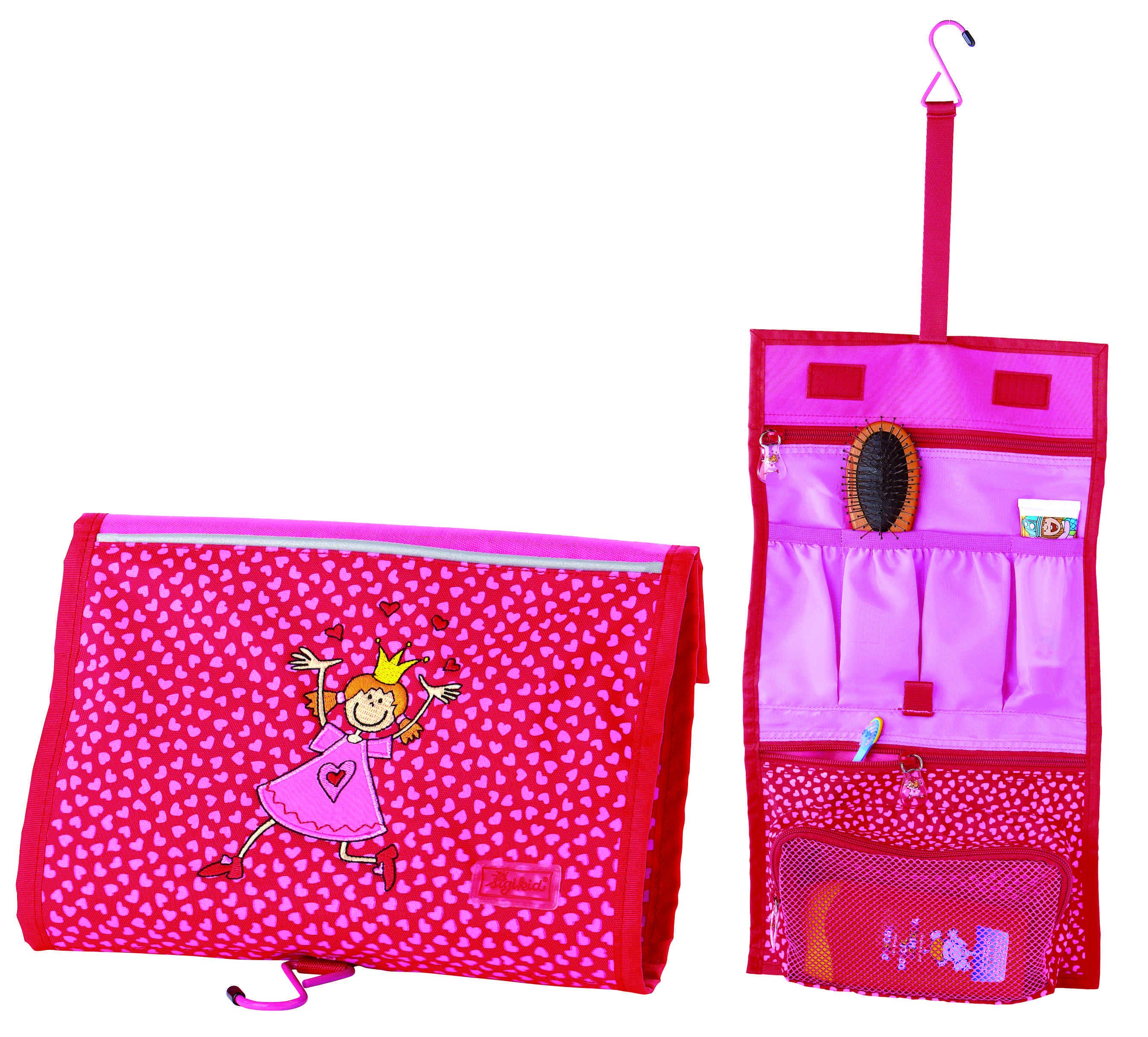 Pinky Queeny. Der Name ist beim Kinderspezialisten Sigikid Programm. Eine sehr rosane Waschtasche für kleine Hohheiten.  Foto:(c) www.imagesportal.com