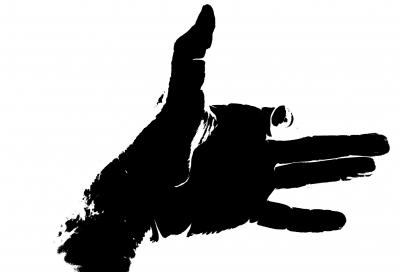 Schattenspiele gehören auch zu unserer Schnitzeljagd im Dunkeln. Foto. (c) R. B.  / pixelio.de
