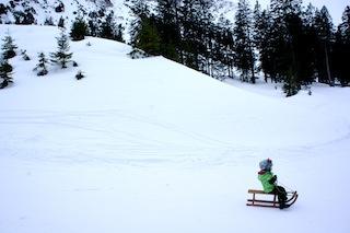 Schlitten kaufen: Der klassische Davoser kostet zwar mehr in der Anschaffung, doch er hält sehr lange. Foto(c) Kinderoutdoor.de