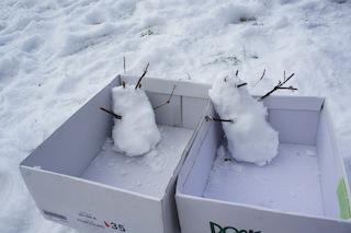 Bei der Schneemann-Ralley ist ganzer Einsatz gefordert. Foto: (c) Kinderoutdoor.de