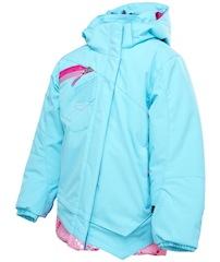 Diese Skijacke für Kinder von Spyder fällt sofort und positiv auf der Piste auf: Das Mynx Jacket. Foto: (c) Spyder
