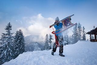 Das Hochschwarzeck bietet im Winter puren Rodelspaß! Foto: (c) Berchtesgadener Land Tourismus GmbH