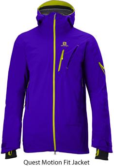 Salomon bringt mit dem neuen Quest Motion Fit Jacket ein neues Kleidungskonzept für Skifahrer auf den Markt. Foto: (c) Salomon
