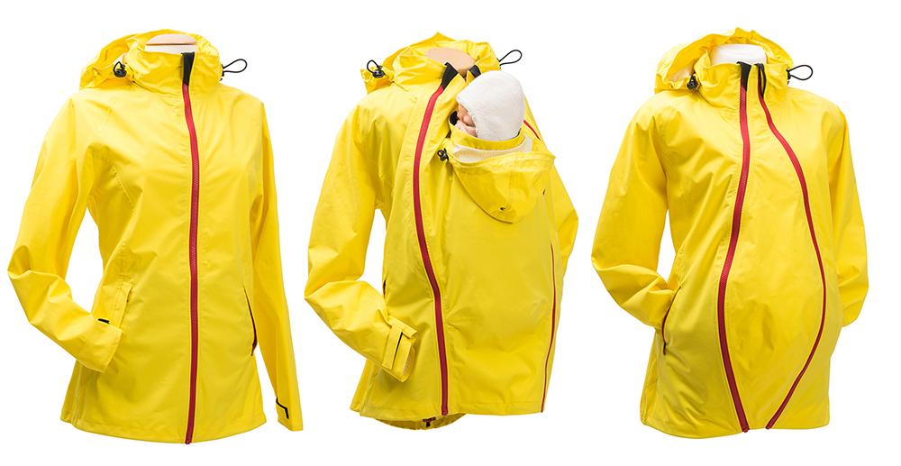 Mamalila stellt auf der ISPO eine superleichte Regenjacke für zwei vor.  Foto: (c)Mamalila