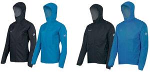 Eine Ultraleichte Schutzhülle: MAMMUT MTR 201 Rainspeed Jacket Men & Women für Trailrunning. Foto (c) Mammut