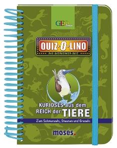 Geolino bringt ein unewöhnliches Quizbuch für Kinder heraus: Quizolino. Bis zu vier Personen, auch Erwachsene, können es spielen.  Foto (c) Moses Verlag