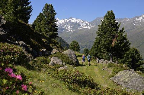 Am 17. August 2014 eröffnet Oberhofen im Inntal den neuen Oberhofer Höhensteig. Auf dem neu sanierten und beshilderten Bergpfad gelangen Wanderer in einer schönen Tagestour vom Inntal ins Sellraintal. Copyright: Innsbruck Tourismus