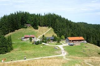 Bayerische Alpen: Die Gindelalm am Schliersee ist ein lohnendes Ziel! Foto (c) Kinderoutdoor.de