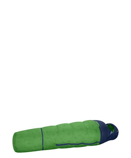 Der Little Mammut kommt ganz groß raus, denn der Kinderschlafsack hat seine Verlängerung dabei. foto (c) Mammut