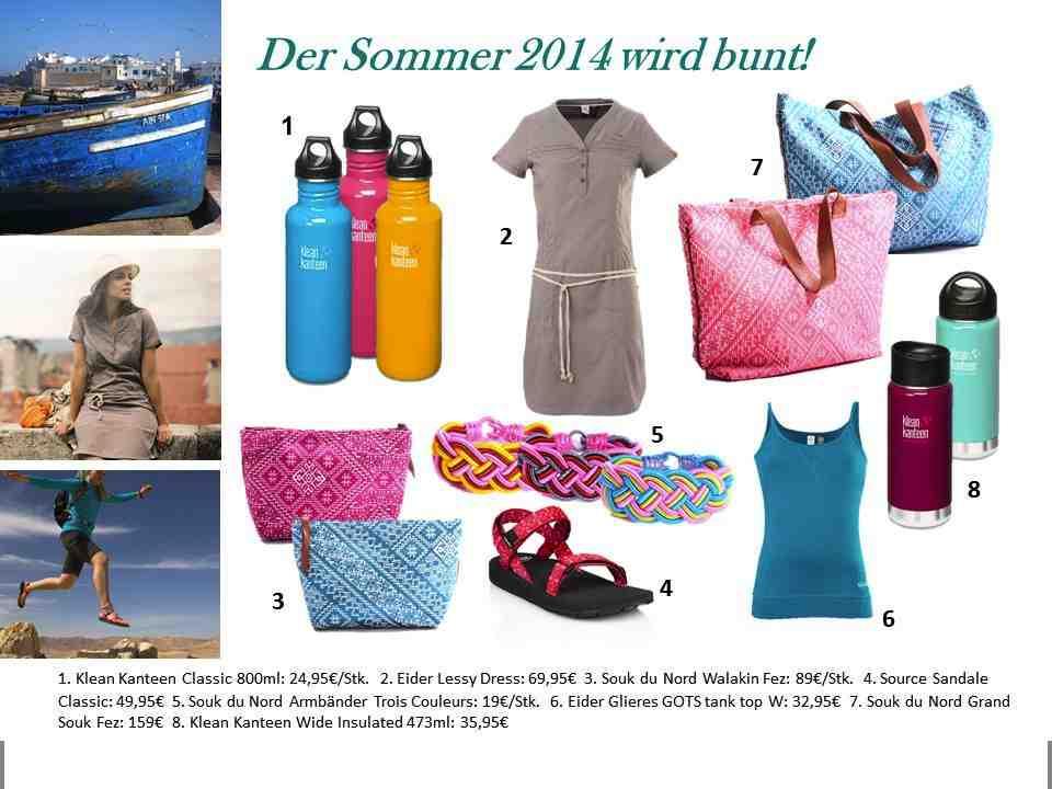 Die geballte Ladung Lieblingsstücke für den Sommer 2014. Fotos (c) Hersteller