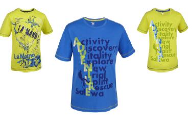 So lässig! Am Klettersteig haben die Kinder mit dem Exploring Co T-Shirt von Salewa ihren starken Auftritt. Foto (c)Salewa