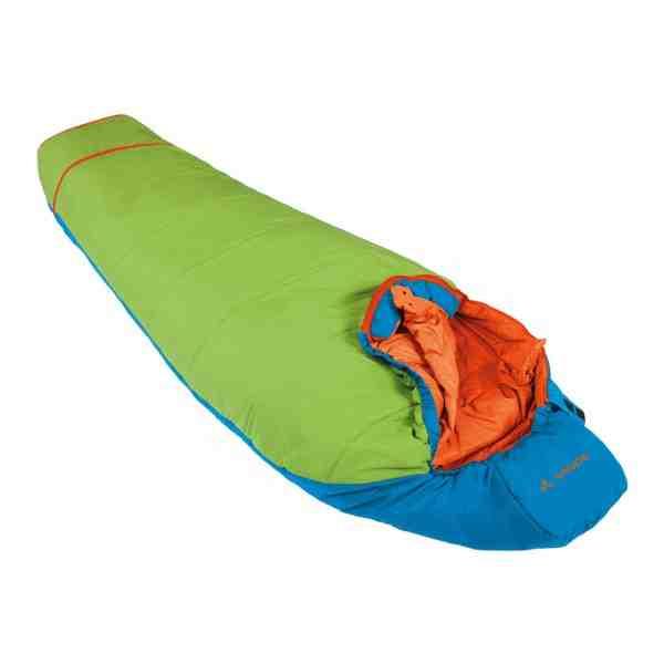 Vaude Dreamer Adjust 450 skyline ein praktischer Kinderschlafsack. Foto (c) Vaude