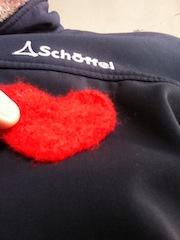 Fertig ist das tolle Herz aus Filz. Foto (c) Kinderoutdoor.de