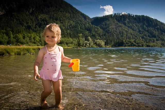 Urlaub mit Baby im Kinderland Bayern. Gläschen und Windeln können zuhause bleiben.  Foto (c) Kinderland touristinformation Ruhpolding / Andreas Plenk