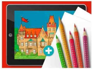Eine Kinder App die ihren Namen verdient hat: Creative Kids.  Foto (c) Faber-Castell