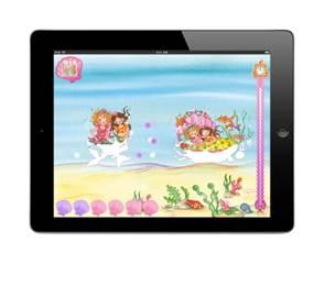 Rosa überall! Prinzessin Lillifee bietet auf ihrer App den Mädchen kurweilige Unterhaltung. Foto (c) Blue Ocean Entertainment AG