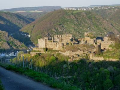 Burgen sind ein lohnendes Ziel für Tagesausflüge, so wie Burg Rheinfels bei St. Goar. Hier gibt es Suchspiele für Kinder. Foto (c) Dieter Schütz  / pixelio.de