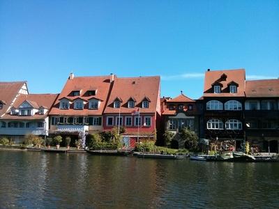 Paddeln auf der Regnitz. Das Ziel der Tagestour ist lohnend: Bamberg! Foto (c) Bernd Deschauer  / pixelio.de