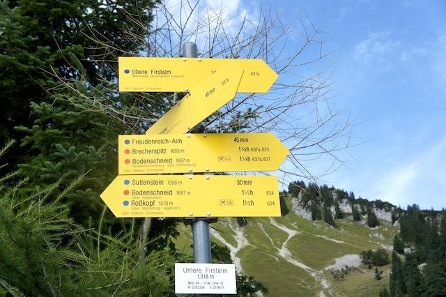 Wo geht´s lang? Beim Bergwandern bitte auf den markierten Wegen bleiben.  foto (c) Kinderoutdoor.de