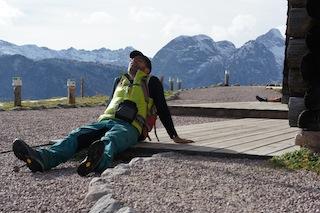 Regelmäßige Pausen sind auch ein gutes Mittel gegen Muskelkater.  Foto (c) Kinderoutdoor.de
