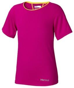 Manchen Mädchen gefällt jede Farbe, solange sie rosa ist. Marmot hat für Pink Girlis das Girl's Essential Short Sleeve. Foto (c) Marmot