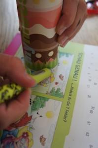 Nachzeichnen! Als Bild nehmt Ihr eines aus den Kinderheften von Banken, Apotheken oder so.  Foto (c) Kinderoutdoor.de