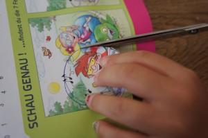 Nun das Bild ausschneiden. Ist ja kinderleicht.  Foto (c ) Kinderoutdoor.de