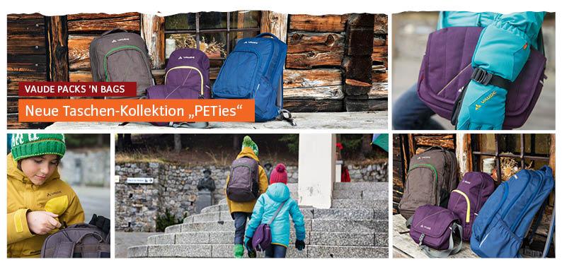Mit vielen PET Flaschen zu Schule. Kein Problem, denn der Schulrucksack Petosas von Vaude besteht aus diesem Recyclingmaterial. foto (c) Vaude