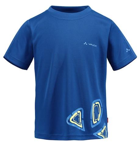 So blau kann grün sein: Das Kinder T-Shirt Kids Zodiak VI besteht aus S-Cafe Fasern und diese ist schnelltrocknend sowie geruchshemmend.  Foto (c) Vaude